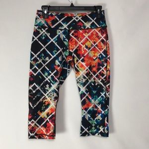 Zella Multi-Color Capri Leggings M
